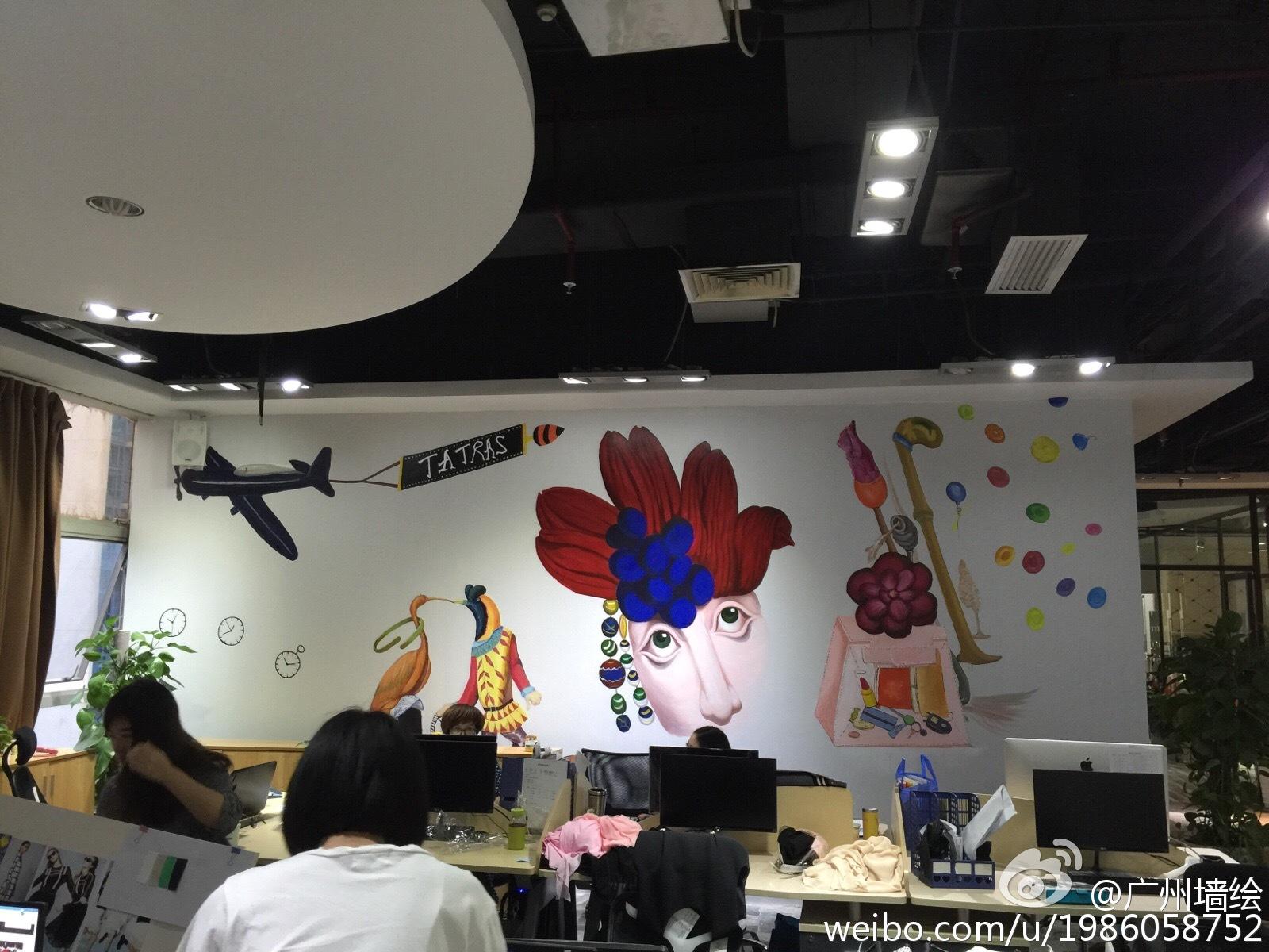 广州墙绘手绘墙公司背景图墙绘案例
